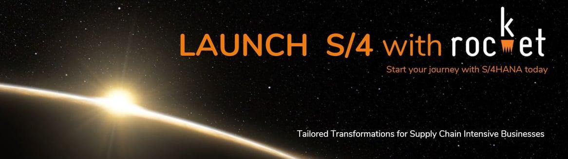 Launch S4HANA Website banner