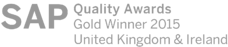 Winner of the Gold Award for Innovation from SAP Quality Awards for UK&I